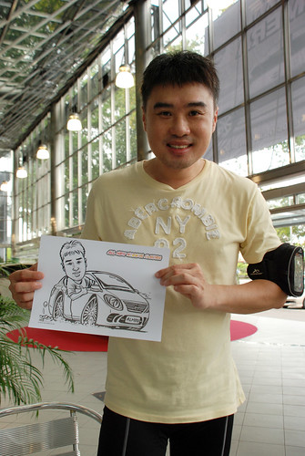 Caricature live sketching for Tan Chong Nissan Almera Soft Launch - Day 2 - 40
