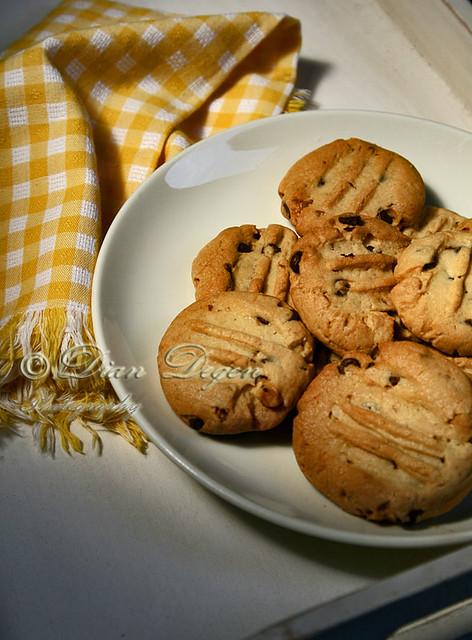 homemade choco chip cookies