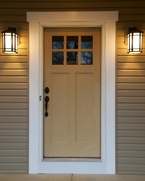 Craftsman front door flickr photo sharing for Craftsman entry doors
