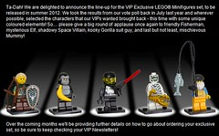 VIP exclusive minifigs