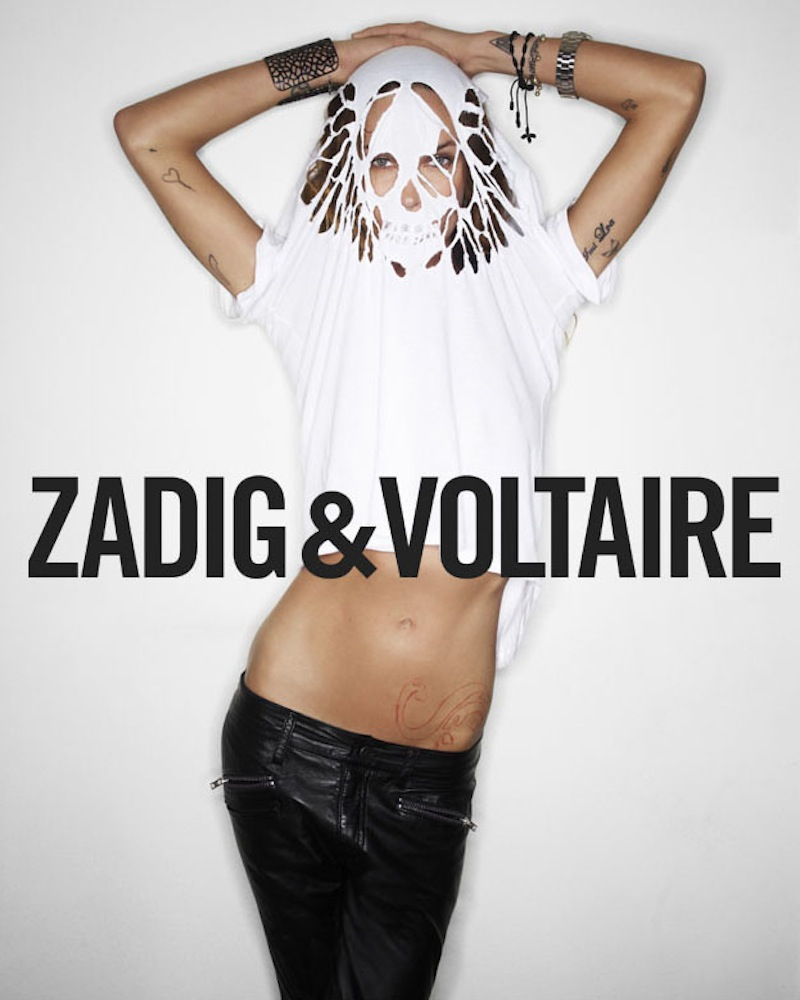 Zadig et Voltaire Cut-Out Skull Tee