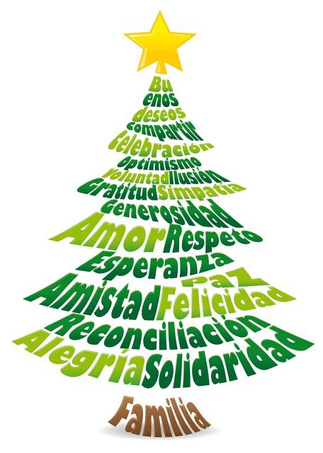 Dise o tipogr fico navidad rbol composici n vectorial - Diseno de arboles de navidad ...