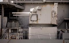 "Photograph: 5"" Gun on the USS Iowa"