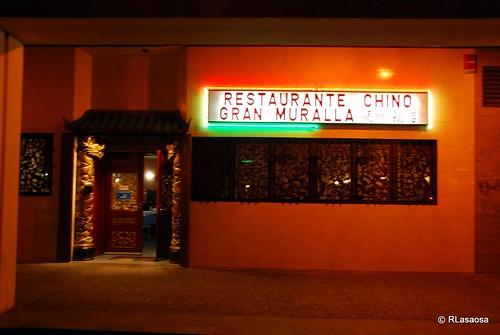 Restaurante chino Gran Muralla, en la Avenida de Pío XII