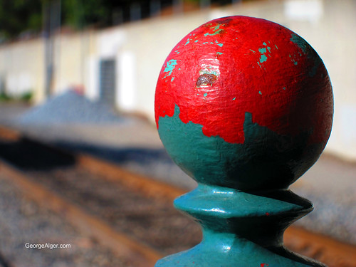 Painted Ball and Tracks