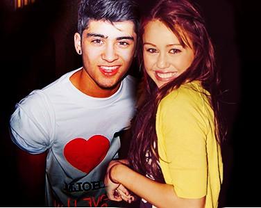 Zayn Malik and Miley Cyrus
