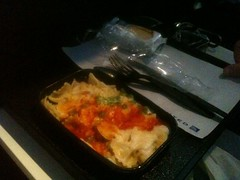 Amy's Airline Meal: Fettuccine with cheese and tomato sauce
