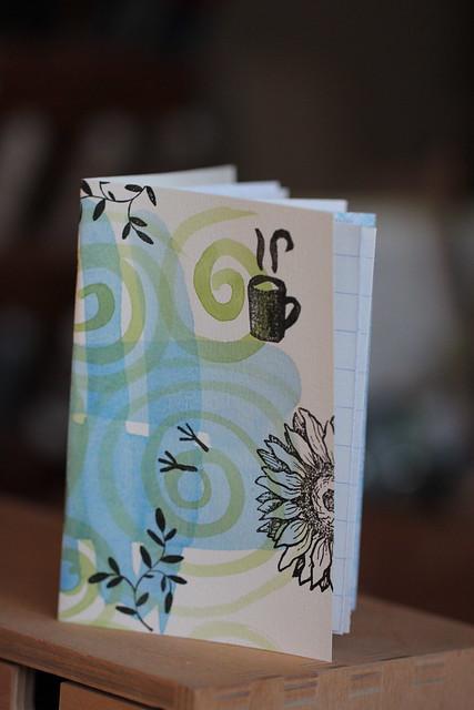 in the garden handmade small notebook(s)
