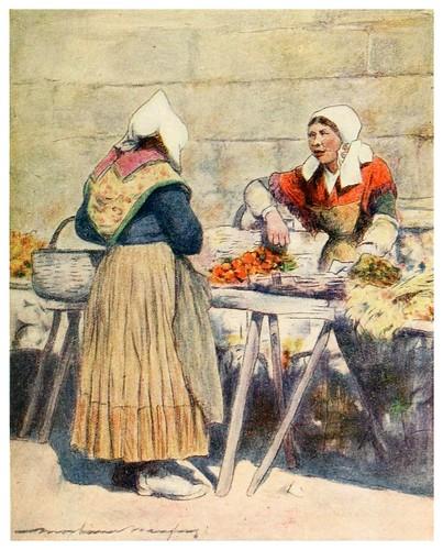 011-Mercado de verduras en Quimper-Brittany 1912- Mortimer y Dorothy Mempes