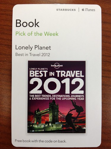 Starbucks iTunes Pick of the Week - Lonely Planet: Best in Travel 2012