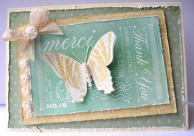 Merci Blog Hop Card