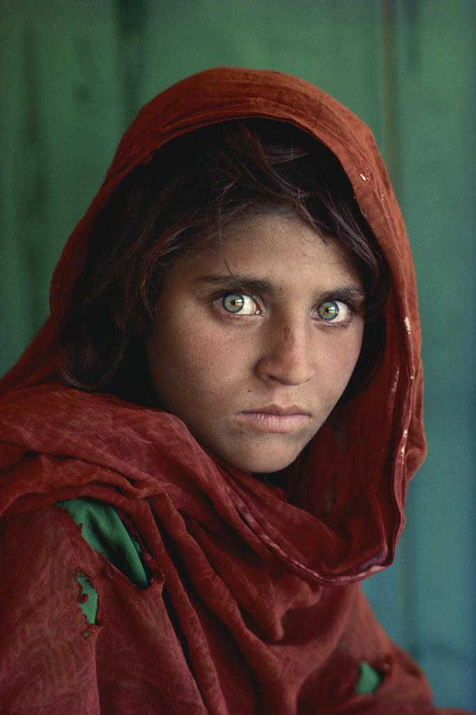 Pakistan. Peshawar. 1984. Afghan Girl at Nasir Bagh refugee camp.
