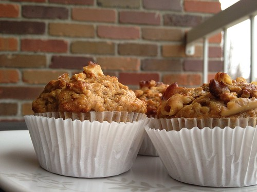 Banana pick-me-up muffins