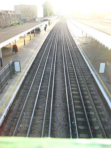 Railway tracks at South Woodford