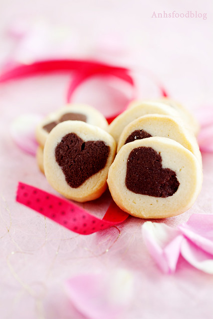 Heart imprint cookies