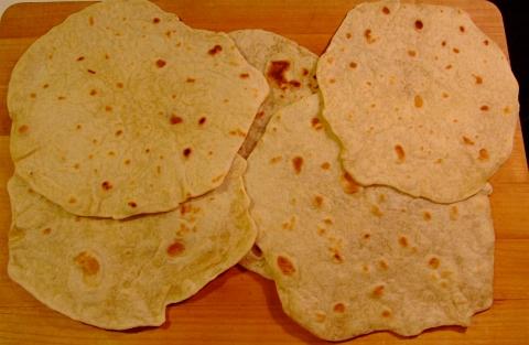 Fast way to make flour tortillas without lard