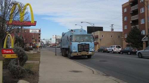 A City Of Chicago Department Of Streets And Sanitation Autocar garbage truck. Chicago Illinois USA. Early January 2012. by Eddie from Chicago
