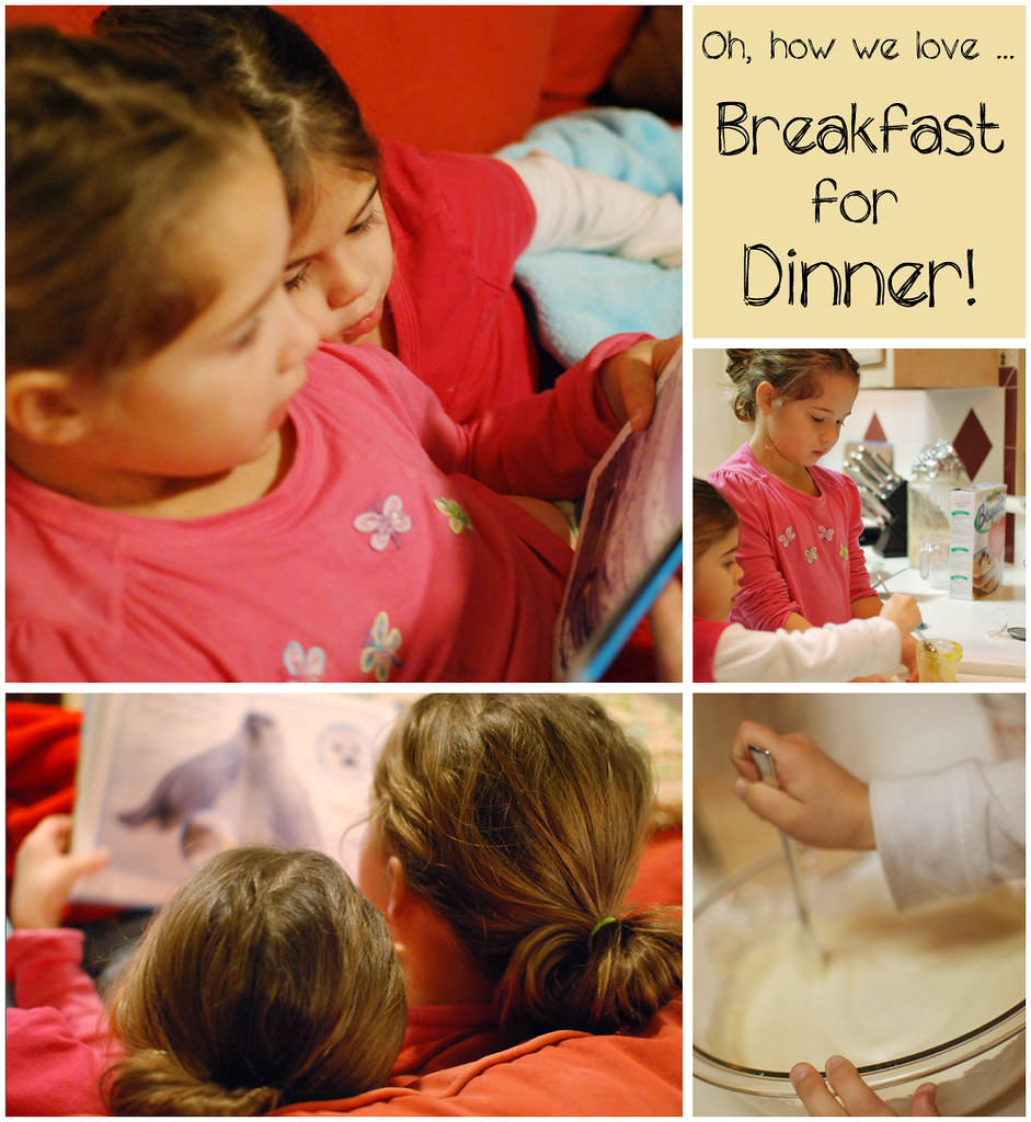 breakfast for dinner collage