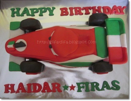 Racing Car Cake by DiFa Cakes