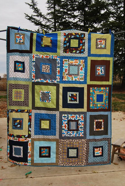 Steiger's big boy quilt