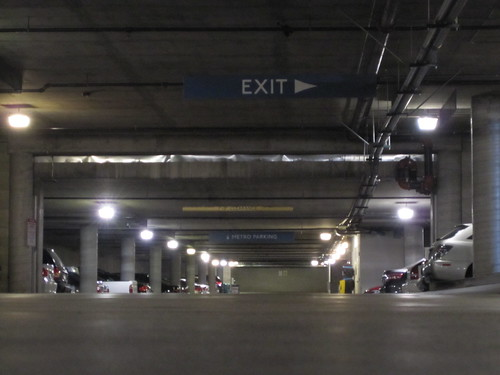Parking garage under Mission Meridian Village in South Pasadena