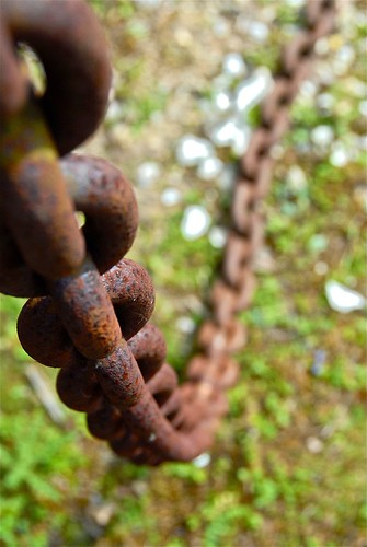 long rusty chain