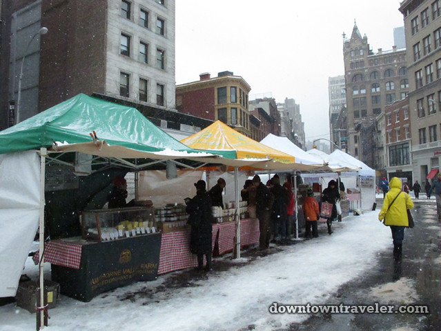 NYC Snowstorm January 2012 Union Square Greenmarket 3