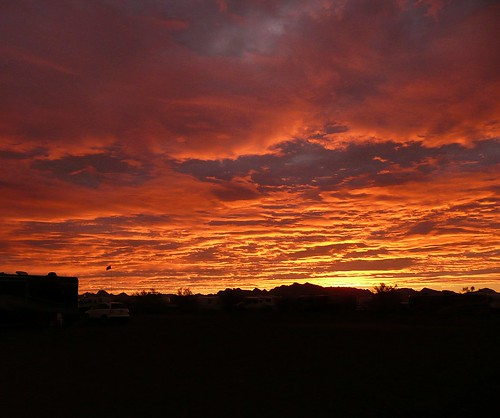 Quartzsite Sunrise by RV Bob