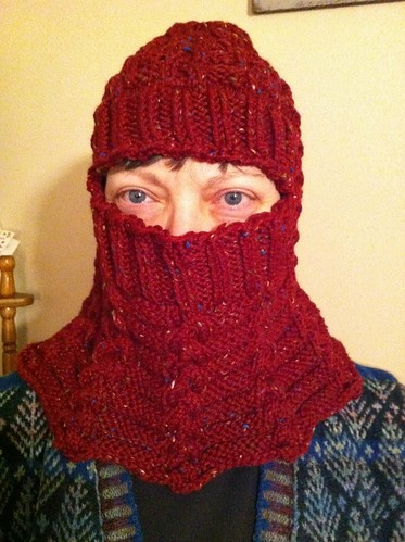 Warm All Winter cowl finished! by BlueDragon2