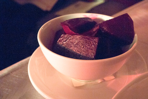 Hot Vinegar Beets with Orange & Thyme @ CHARPOP