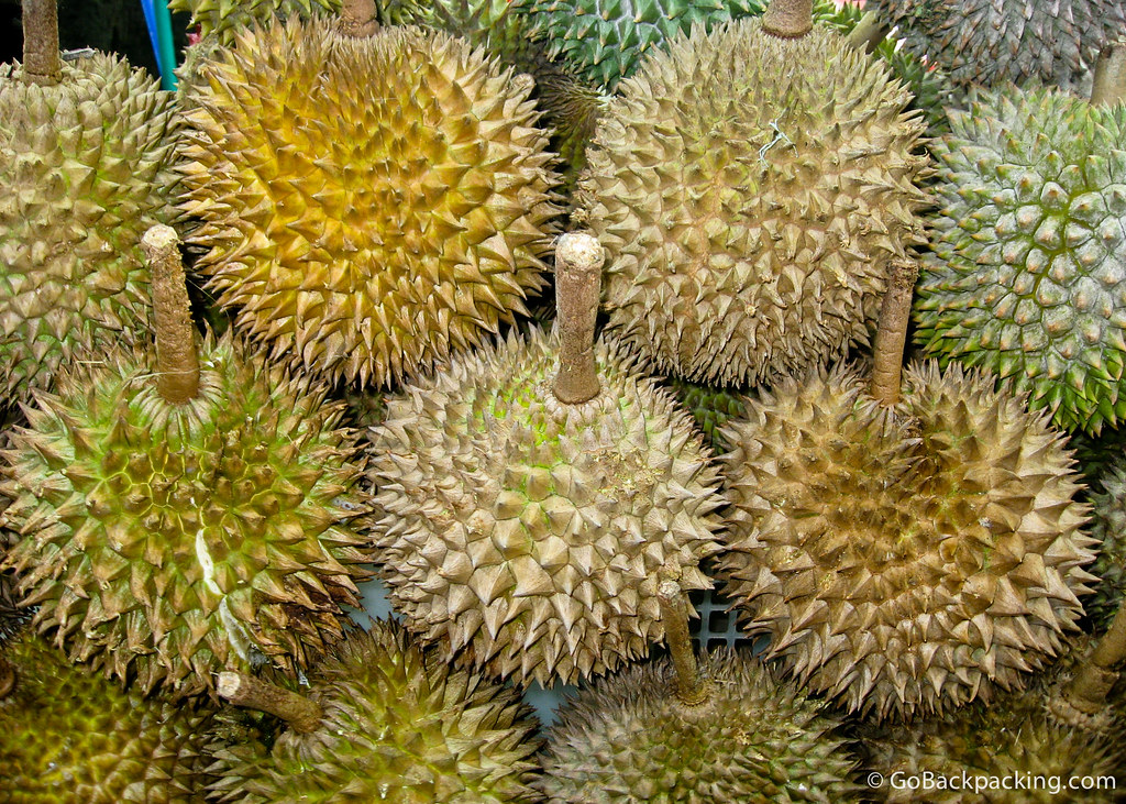 Durian for sale in Singapore