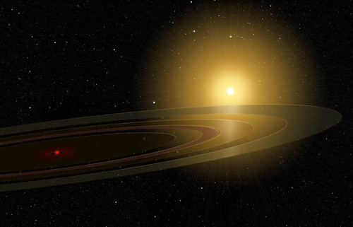Saturn-like Ring System Eclipsing a Sun-like Star