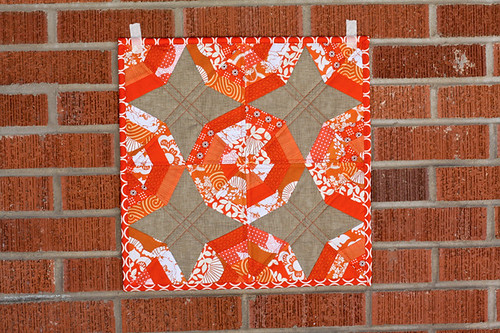 Tangerine Slices Mini Quilt