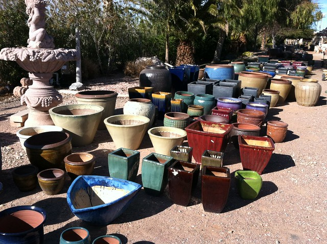 Accessorizing the garden with color and fun flickr for Little baja pottery las vegas
