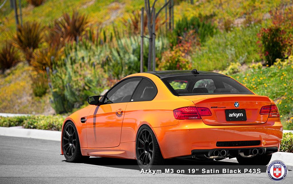 arkym e90 m3 fire orange on hre p43s photoshoot