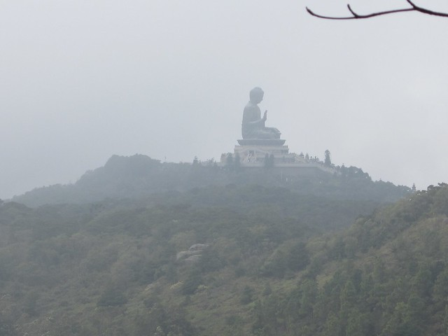 foggy day at big buddha