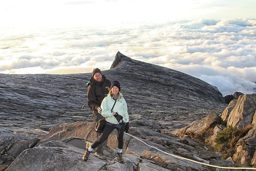 Amy and David on top of Mt. Kinabalu - Borneo