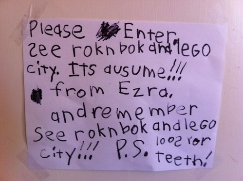 Ezra's latest sign