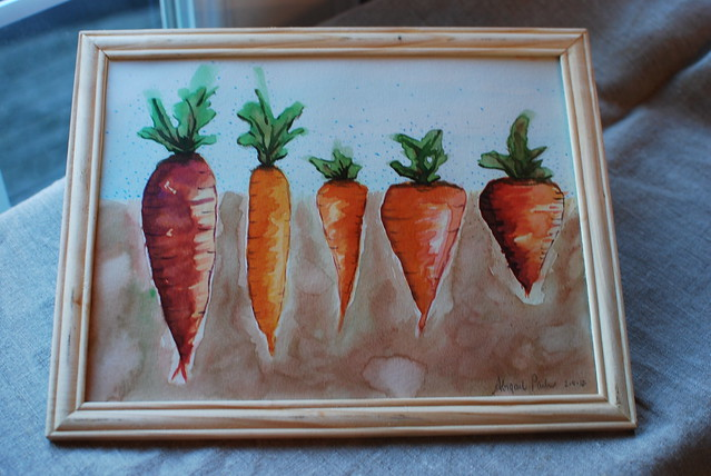 watercolor carrots