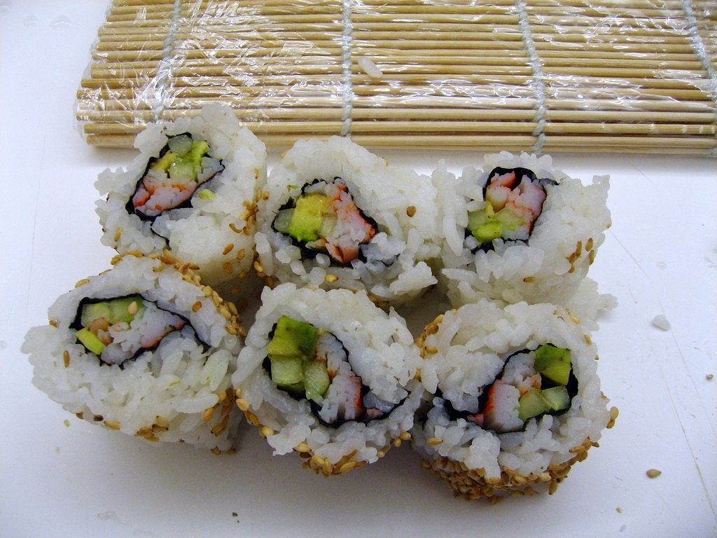 Sushi Class - mj's California roll