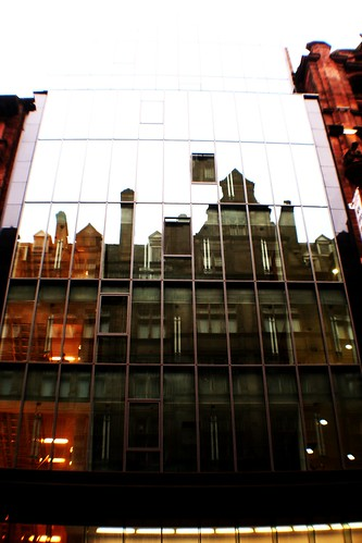 Reflections on Glass-fronted Building