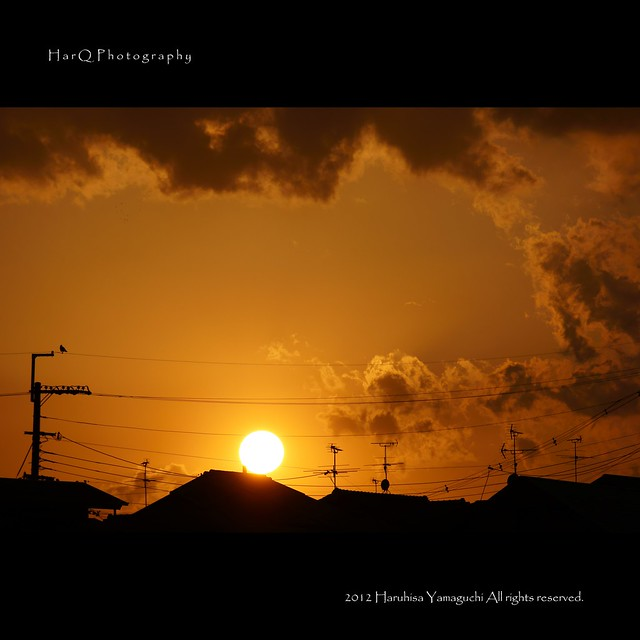 Today, the sunset seen from the neighborhood *