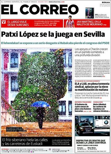 Portada de El Correo Patxi López