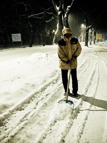 Everyday I'm shoveling...