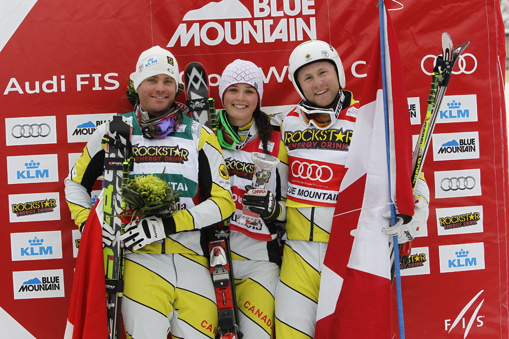 Canada wins double gold and silver in the Blue Mountain ski cross World Cup.