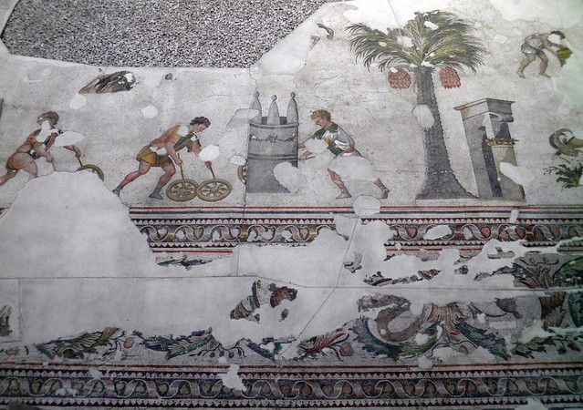 6th century mosaic floor from the Palatium Magnum (Constantinople's Great Palace), Palace Mosaic Museum, Istanbul