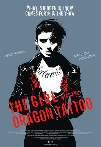 The Girl with the DRAGON TATTOO film art