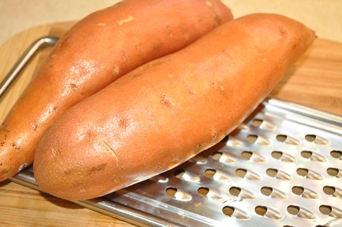 sweet potatoes rinsed/grater