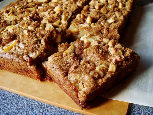 Apple Rye Blondie with Cream Cheese & Walnut