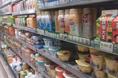 便利超商飲料陳列架